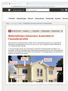 Austrotherm Online Service Tools